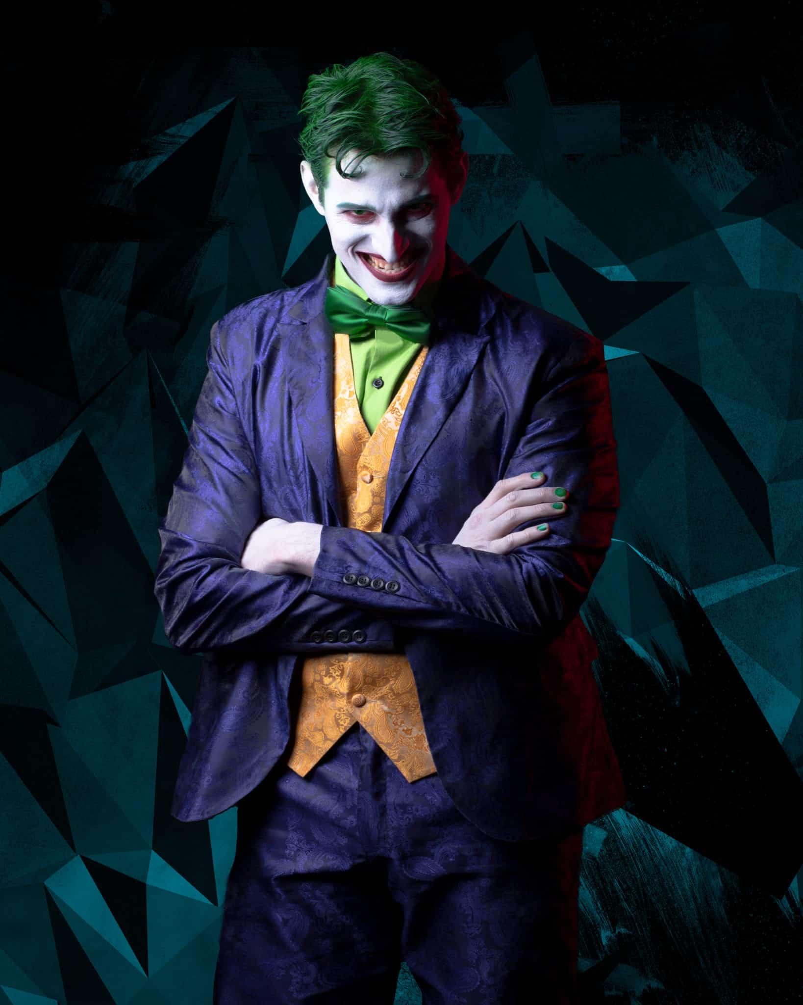 "Bardo Böhlefeld as Joker in ""Harley Quinn - Blazing Shadows"""