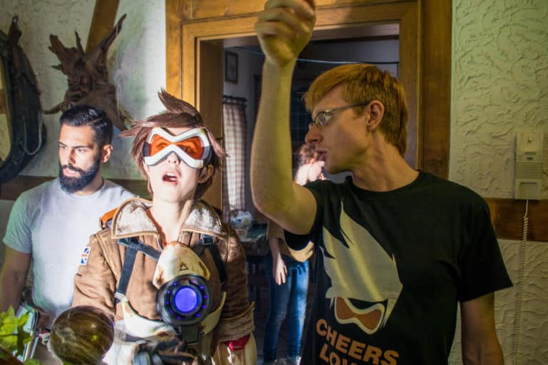 director thomas bernecker and tracer actress amy nickell overwatch movie