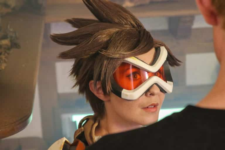 amy nickell as tracer actress in overwatch fan film