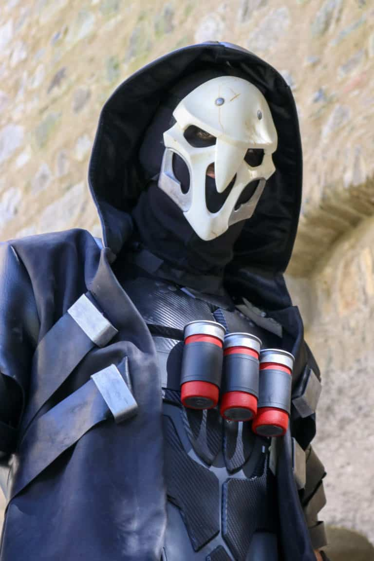 reaper cosplay in live action overwatch movie
