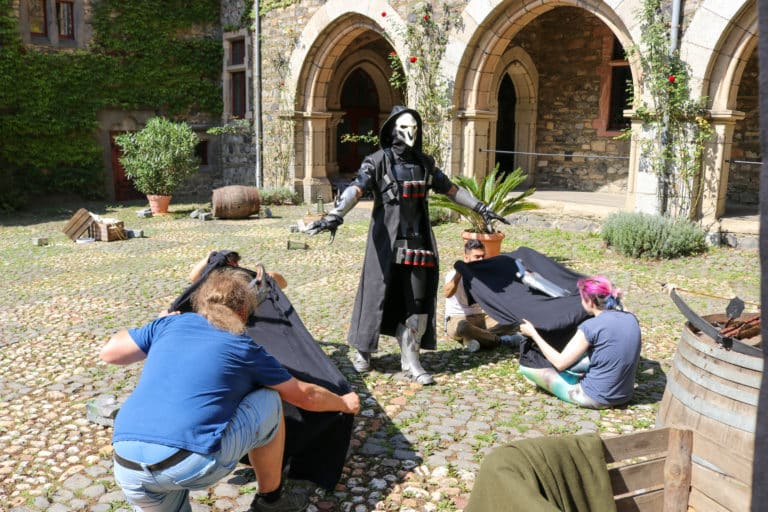 reaper costume in live action overwatch movie