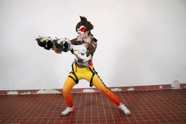 amy nickell as tracer actress in live action overwatch movie