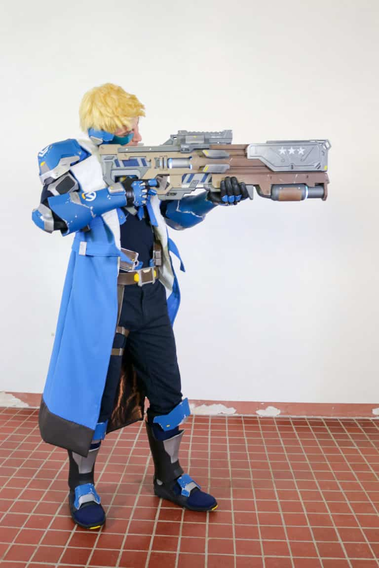 hartigan cosplay as jack morrison in live action overwatch movie