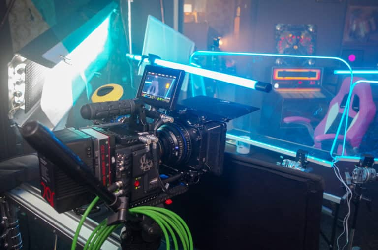 red weapon camera at filmset of overwatch fan film