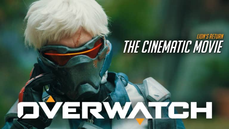 you tube thumbnail with soldier76 overwatch fan film
